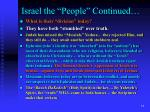 israel the people continued15