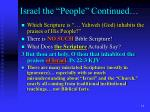 israel the people continued9