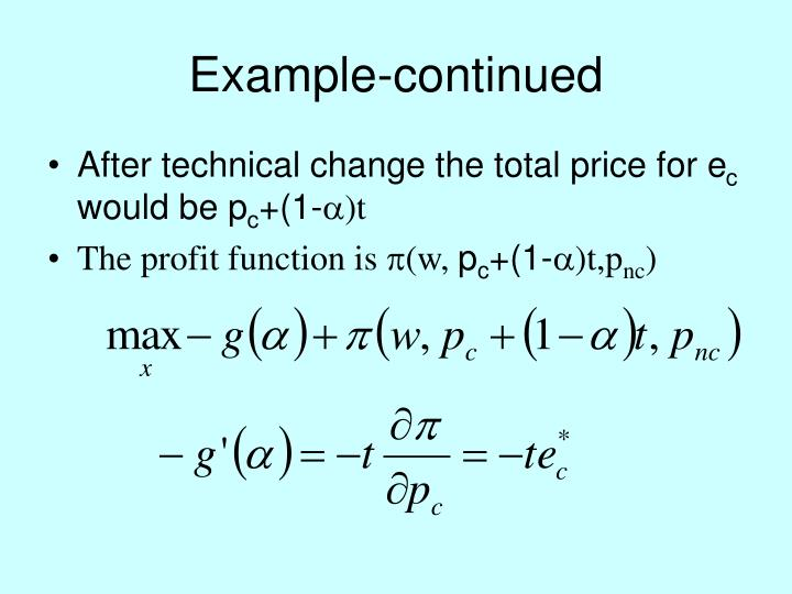 Example-continued
