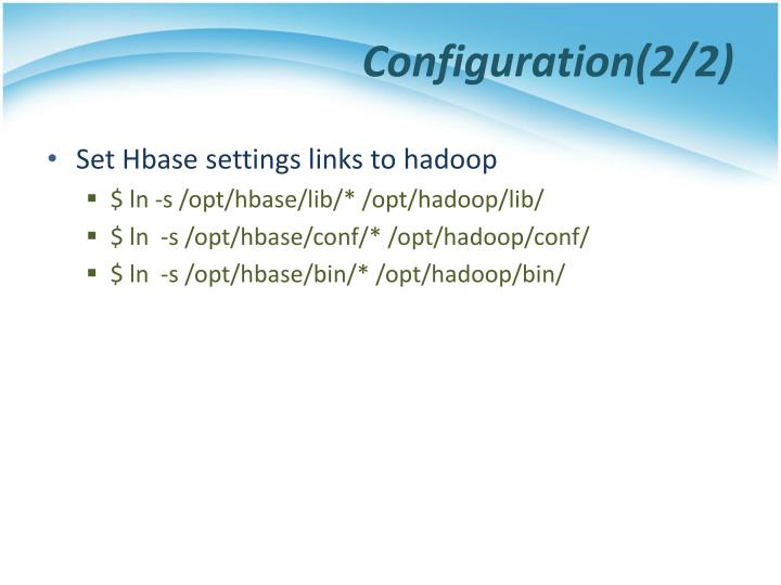 Configuration(2/2)