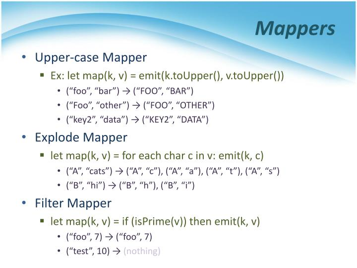 Mappers