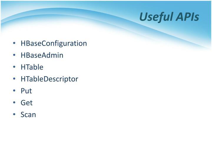 Useful APIs
