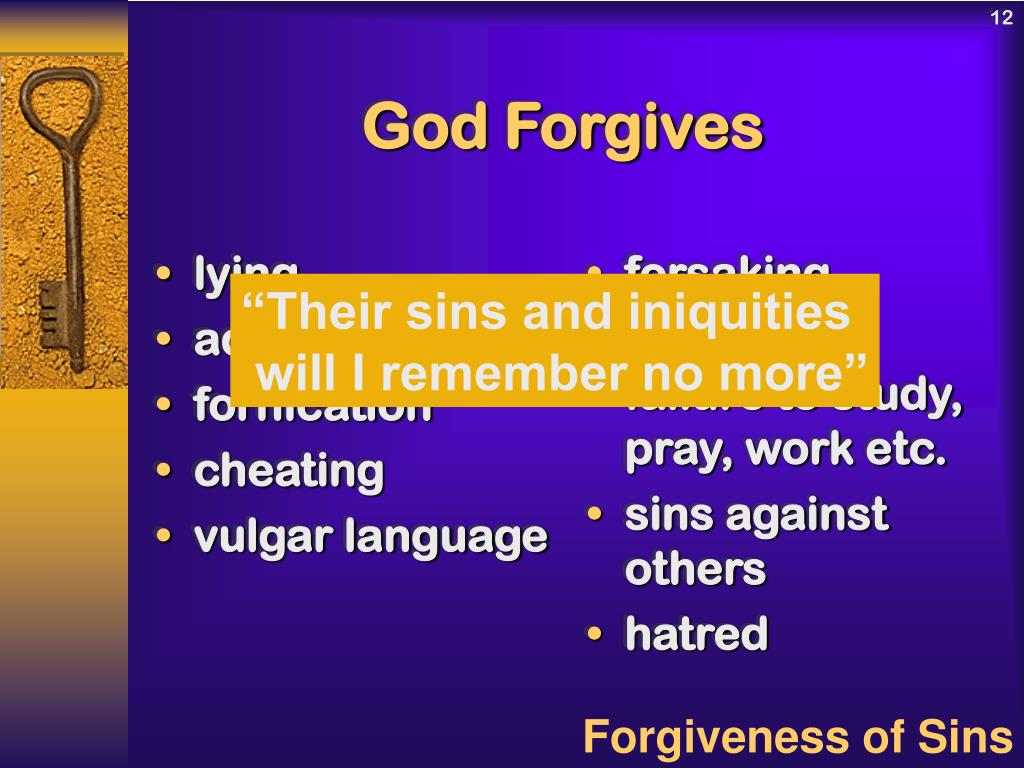 PPT - What God Does With Our Sins PowerPoint Presentation
