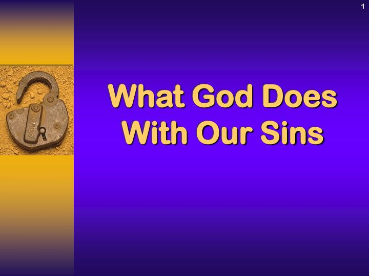 What god does with our sins