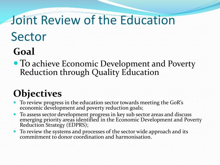 Joint Review of the Education Sector