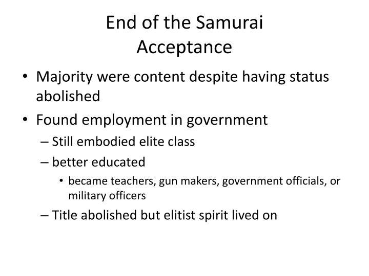 End of the Samurai