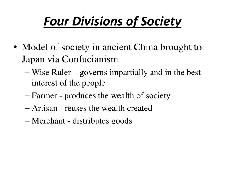 Four Divisions of Society