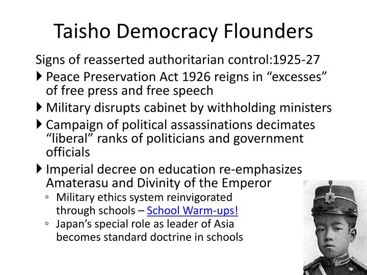 Taisho Democracy Flounders