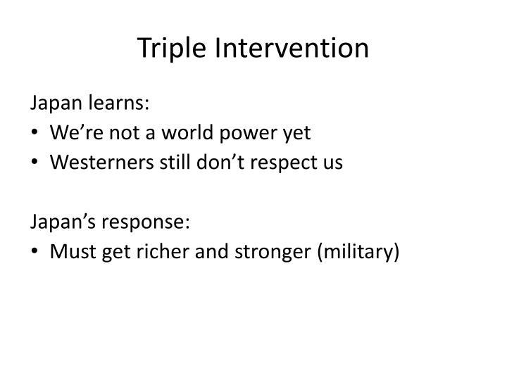 Triple Intervention