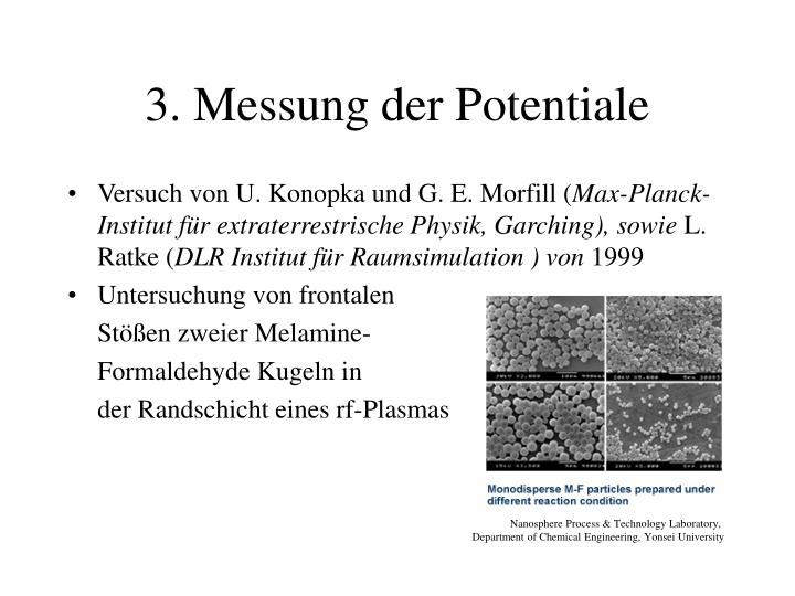 3. Messung der Potentiale