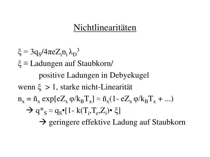 Nichtlinearitäten