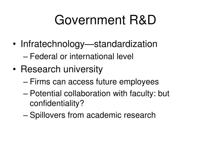 Government R&D