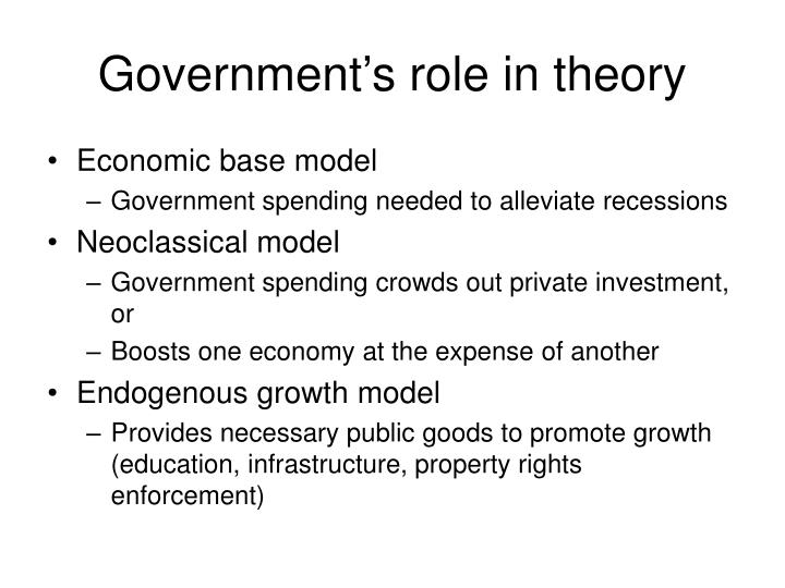 Government s role in theory