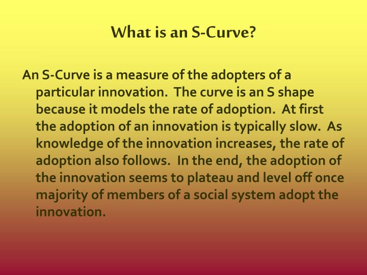 What is an s curve