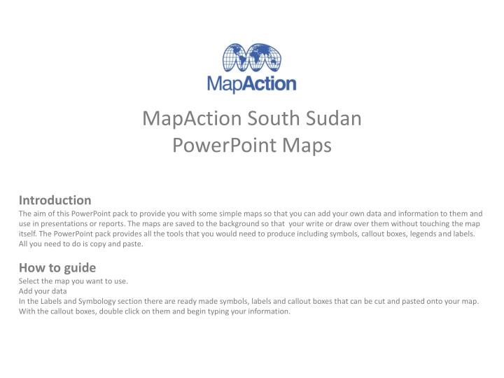 mapaction south sudan powerpoint maps n.