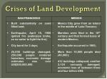 crises of land development