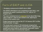 facts of eacp and its eia