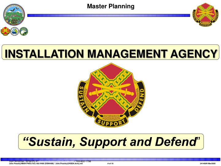 INSTALLATION MANAGEMENT AGENCY