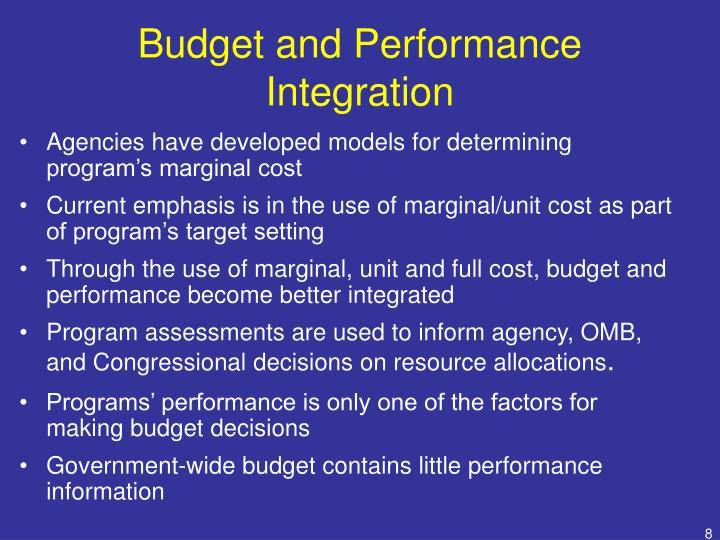 Budget and Performance Integration