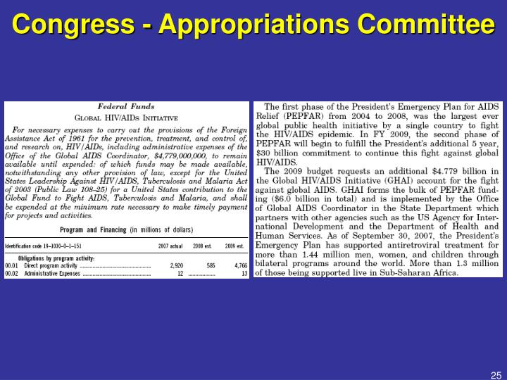 Congress - Appropriations Committee