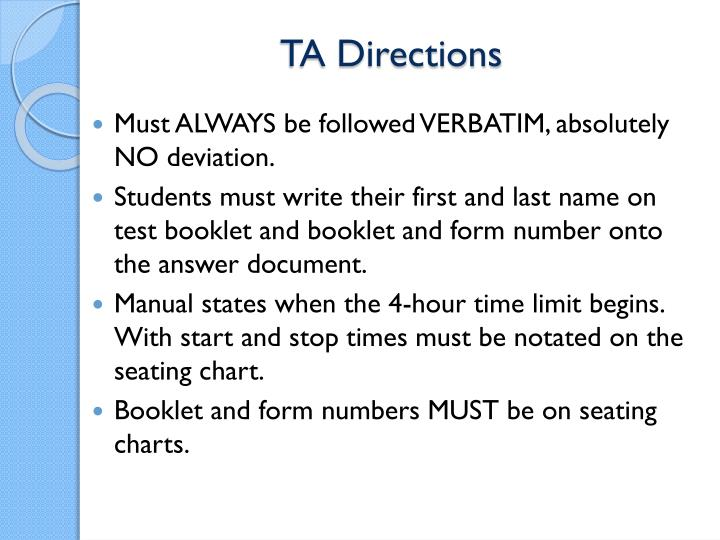 TA Directions