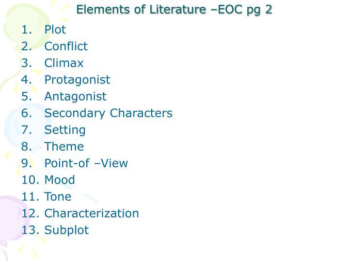 Elements of literature eoc pg 2