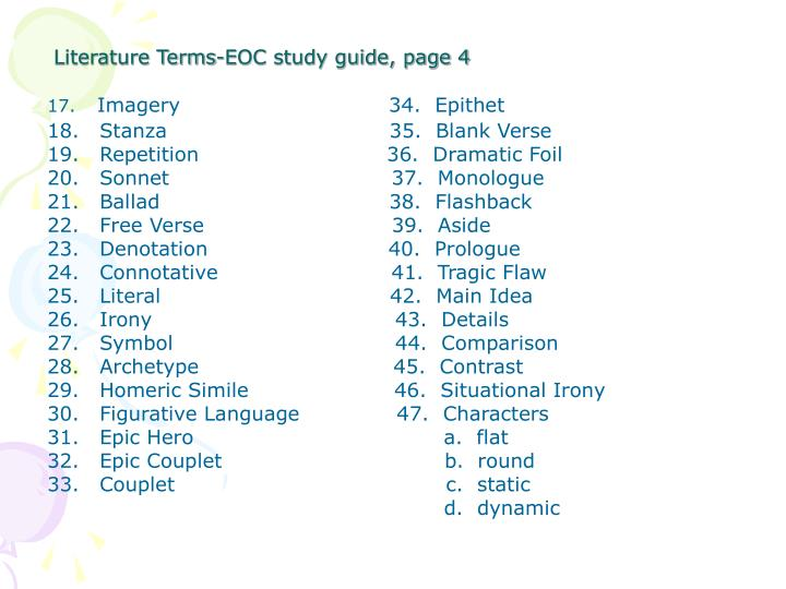 Literature Terms-EOC study guide, page 4