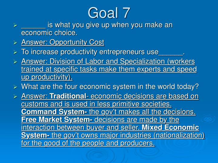 Goal 7