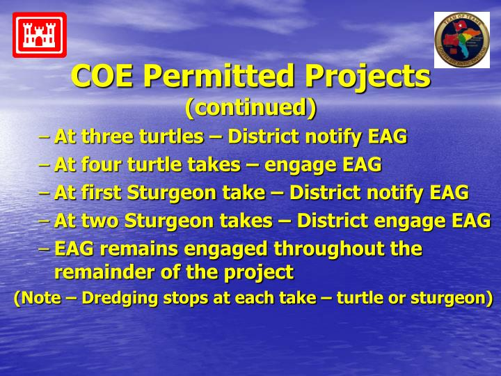COE Permitted Projects