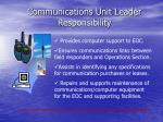 communications unit leader responsibility1