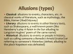 allusions types