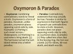 oxymoron paradox