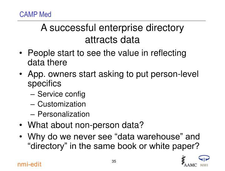 A successful enterprise directory