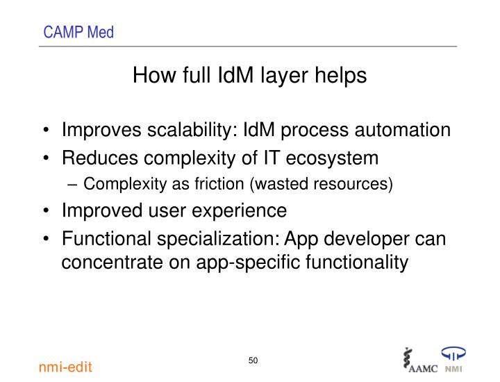 How full IdM layer helps