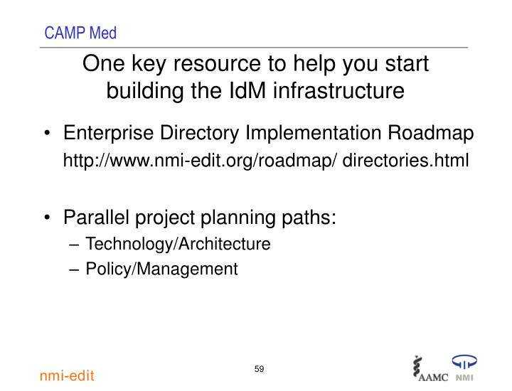 One key resource to help you start building the IdM infrastructure