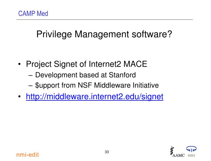 Privilege Management software?
