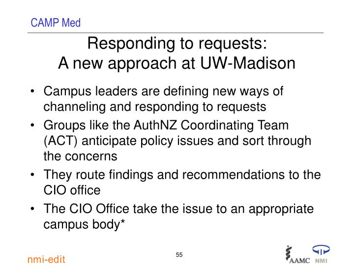 Responding to requests: