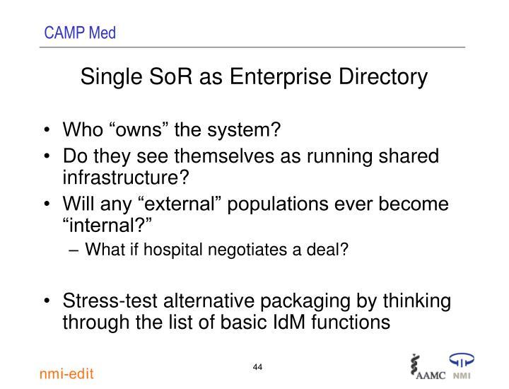 Single SoR as Enterprise Directory