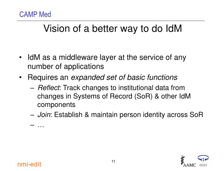 Vision of a better way to do IdM