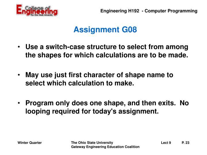 Assignment G08