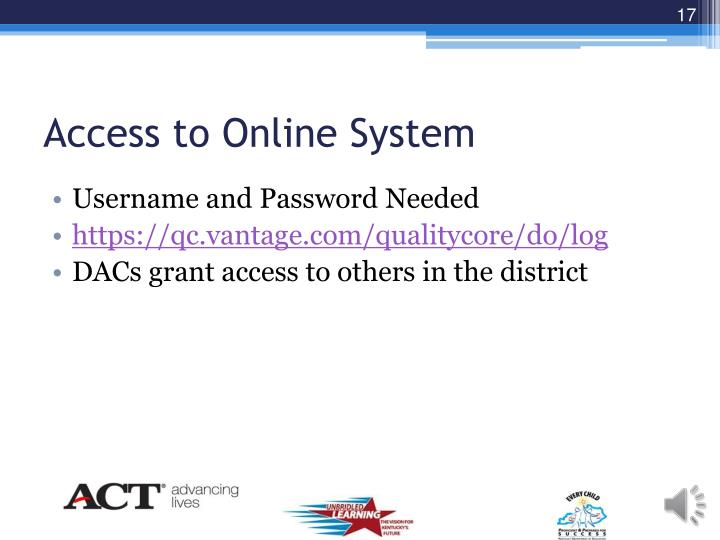 Access to Online System