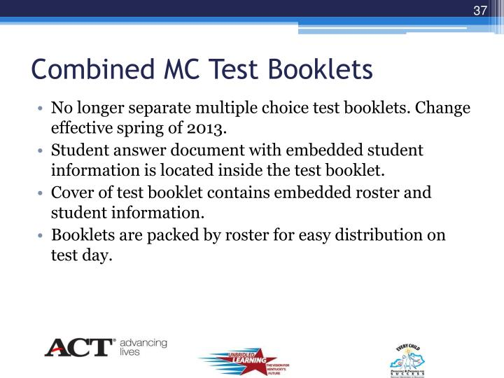 Combined MC Test Booklets
