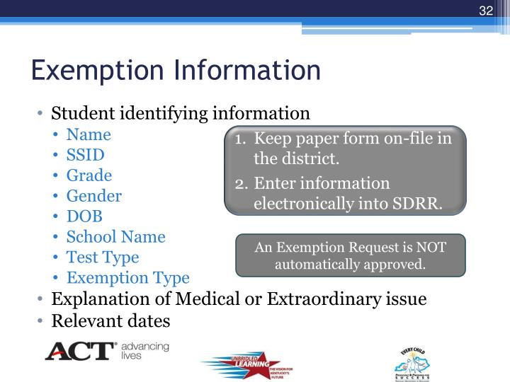 Exemption Information