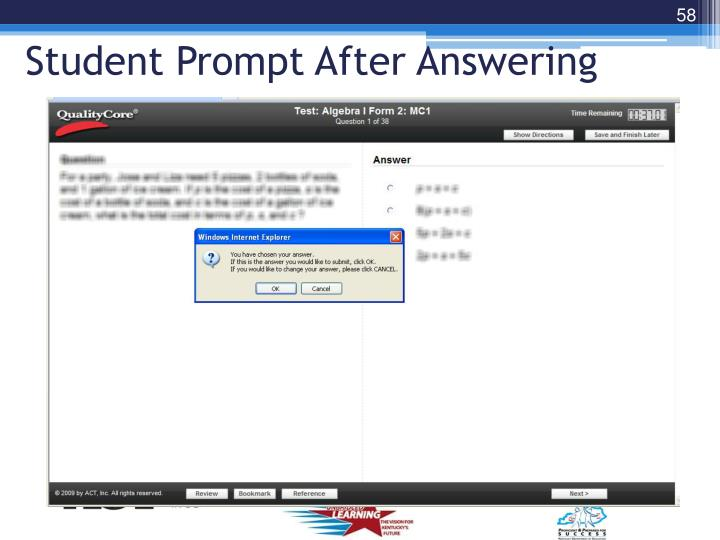 Student Prompt After Answering