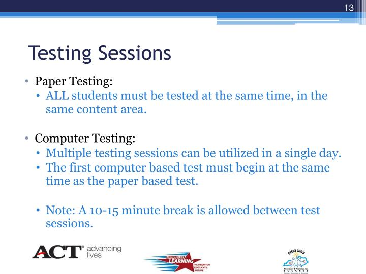 Testing Sessions