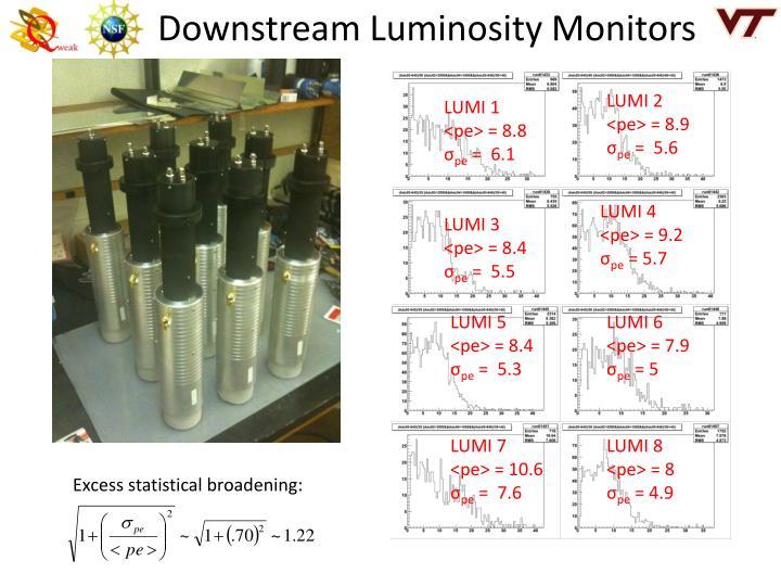 Downstream Luminosity Monitors
