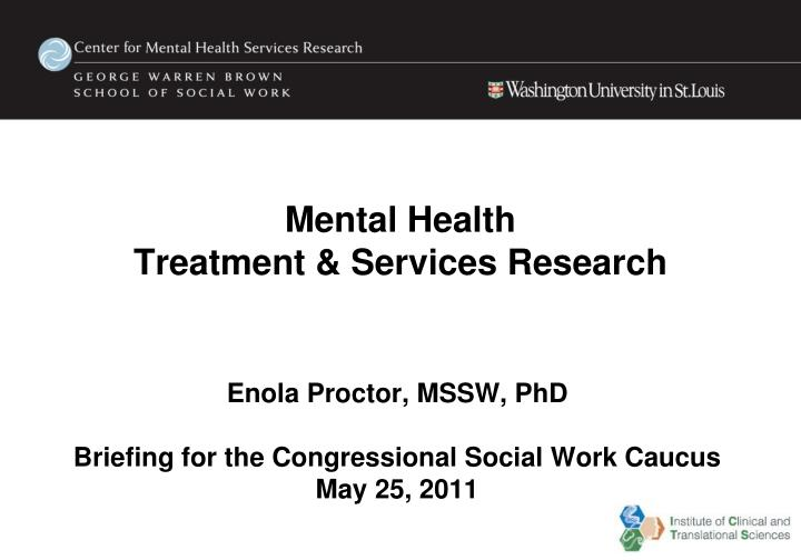 mental health treatment services research