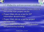 lt web site enhancement strategy
