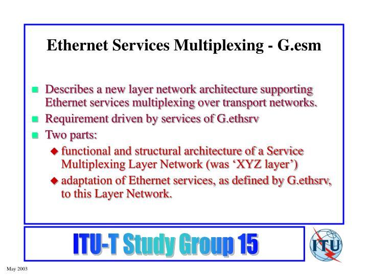 Ethernet Services Multiplexing - G.esm
