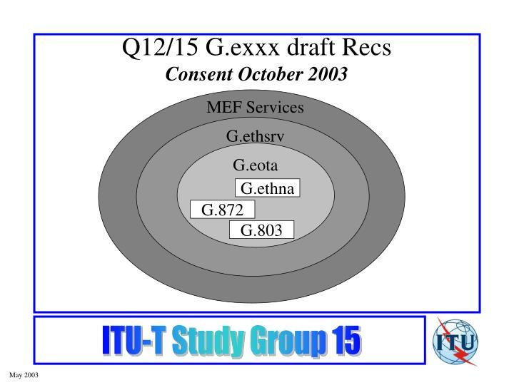 Q12/15 G.exxx draft Recs